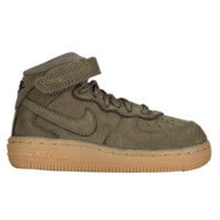 Nike Air Force 1 Mid - Boys' Toddler - Casual Basketball Sneakers - Boys' Toddler - Nike - Casual - Shoes - Med Olive/Med Olive/Gum Light Brown/Black | Kids Foot Locker