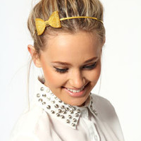 Imogen Metal Structured Bow Headband