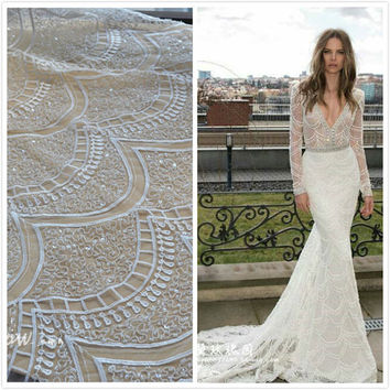 Shop french wedding dress on wanelo for French lace fabric for wedding dresses