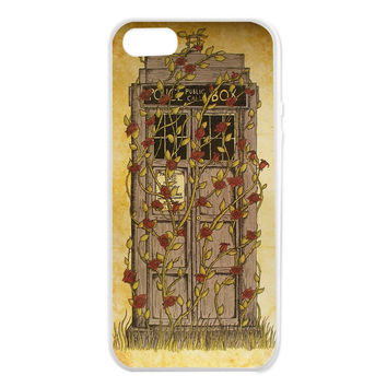 Tardis Rose iPhone 5/5S Cases - Hard Plastic, Rubber Case