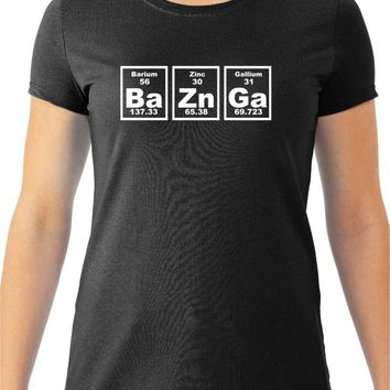 Women's  Bazinga Periodic Table T-Shirt, The Big Bang Theory Sheldon Cooper