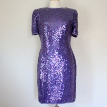 80s Beaded Trophy Dress By Laurence Kazar
