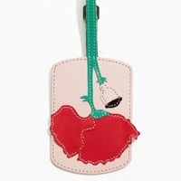 & Other Stories | Poppy Leather Luggage Tag | Beige