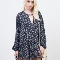 Overflowing Floral Tunic Top - Medium