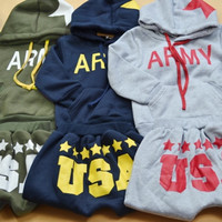 Boys Army Themed Hoodie and Pants Set