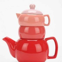 Tonal Ceramic Tea Set- Pink One