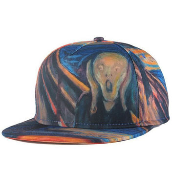 The Scream Snapback Hat