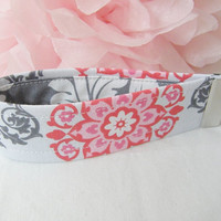 Ready To Ship Pink White Red Grey Demask Cotton Key Fob Wristlet Key Chain