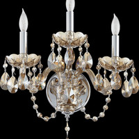 0-030094>Bohemian Katerina 3-Light Wall Sconce Chrome
