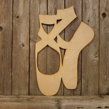 Ballet Pointe Shoes- laser cut wood sign