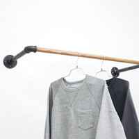 Black Steel U-Rack • Wall Mount Clothing Rack