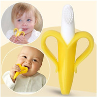 Hot Sale Safety Banana Baby Teether Teething Toothbrush Stick Chews Teething Rings Hygiene Baby Toys Dental Care Free Shipping