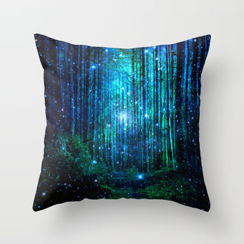 magical path Throw Pillow by Haroulita