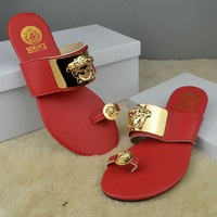 Versace Women Casual Fashion Flat Sandal Slipper Shoes