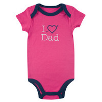 Luvable Friends I Love Bodysuit - Girl | Affordable Infant Clothing