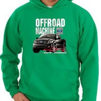 Ford Truck 4X4 OFF ROAD MACHINE F-150 Classic Adult Pullover Hooded Sweatshirt Hoodie Hoody - Kelly