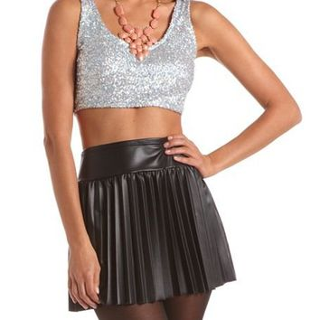 Sparkling Sequin Crop Top: Charlotte Russe