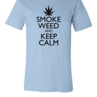 Smoke Weed Keep Calm - Unisex T-shirt