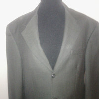 Men's Vintage 1980's  sz 42 Bill Blass 'Black Label' Suit Coat/ Blazer/ Jacket. Brownish Gray  3 button front. 4 botton cuff. Sublime!