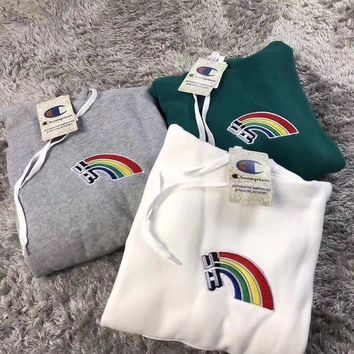 Champion Rainbow Embroidery Trend Sweater [429896761380]