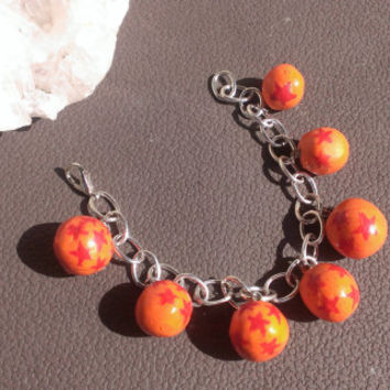 Dragon Ball Charm Bracelet Dragon Ball Z Anime Accessories Nerdy Geeky Jewelry Polymer Clay Fantasy Zen