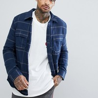 Element Shelton Check Shirt With Fleece Lining at asos.com