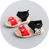 2017 Lovely palm baby girls summer shoes casual sport sandals for girls beach shoes baby first walkers mickey shoes size 15-25