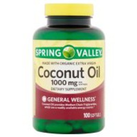 Spring Valley Coconut Oil Softgels, 1000 mg, 100 Ct - Walmart.com
