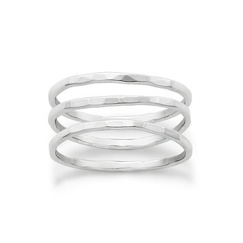 James Avery Sterling Silver Delicate Set of 3 Forged Rings | Dillard's