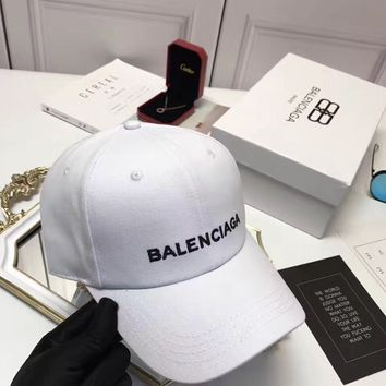 2017 New Balenciaga Paris Women Men Embroidered Outdoor Baseball Cap Hats