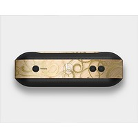 The Bright Gold Spiral Wood Pattern Skin Set for the Beats Pill Plus