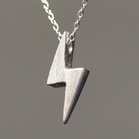 Lightening Bolt Necklace in Sterling Silver