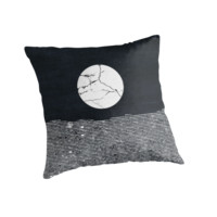'Crack in the Moon' Throw Pillow by Amelia Senville
