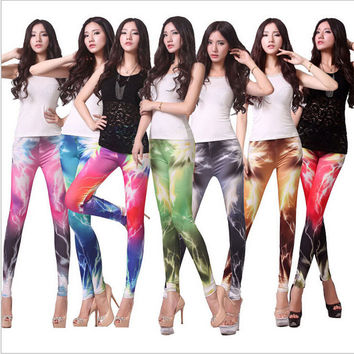 Lightning graffiti sexy leggings women