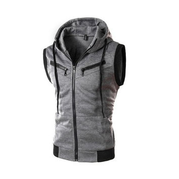 geek new men's vest hooded slim [8833579148]