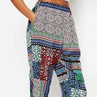 ASOS Woven Harem Trousers In Bright Aztec Print