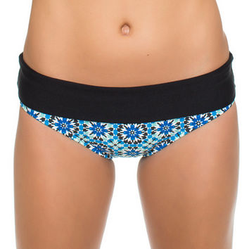 Next - Weekend Warrior Banded Retro Bikini Bottom in Deep Marine