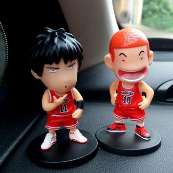 2 In 1 Slam Dunk Car Ornaments Automotive Interior Decorations Dashboard Toys Auto Inside Parts Accessories Cute Doll For Nissan