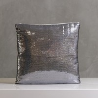 "Festive Sparkle Pillow 16""x16"" Silver"