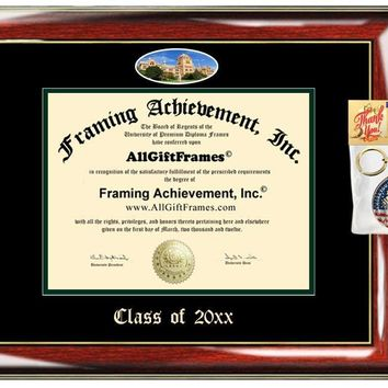 AllGiftFrames Custom Diploma Frame Embossed College Wayne State University Best Graduation Degree Frame Double Wayne Campus Fisheye Picture Cheap Graduate Gift