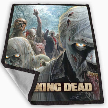 The Walking Dead Season 4 Poster Blanket for Kids Blanket, Fleece Blanket Cute and Awesome Blanket for your bedding, Blanket fleece *