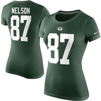 Jordy Nelson Green Bay Packers Nike Womens Player Pride Name & Number T-Shirt – Green