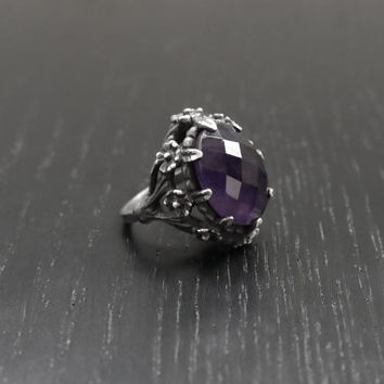 Violet Meadow Ring - Sterling Silver and Amethyst