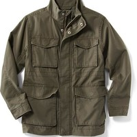 Old Navy Canvas Military Jacket