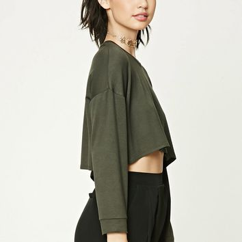 Drop-Sleeve Crop Top
