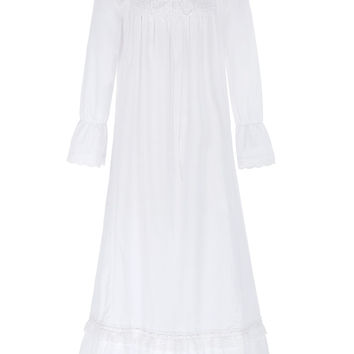 Women Ladies Nightgowns 2017 New Arrival Victorian Style Sexy White Color Long Sleeve Square Neck Cotton Nightgown Sleep Wear