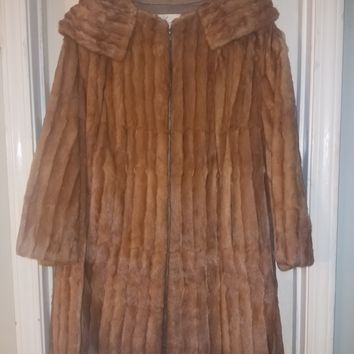 Vintage Whiskey Mink Long Coat