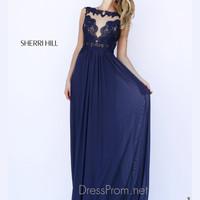 Lace Bateau Neckline Formal Prom Gown By Sherri Hill 5207