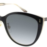 Gucci GG0193SK Plastic Cat-Eye Sunglasses Size 58 mm
