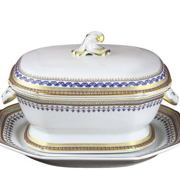 MOTTAHEDEH Chinoise Blue Tureen